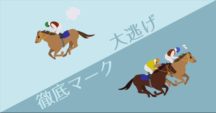 騎手の戦法が面白い